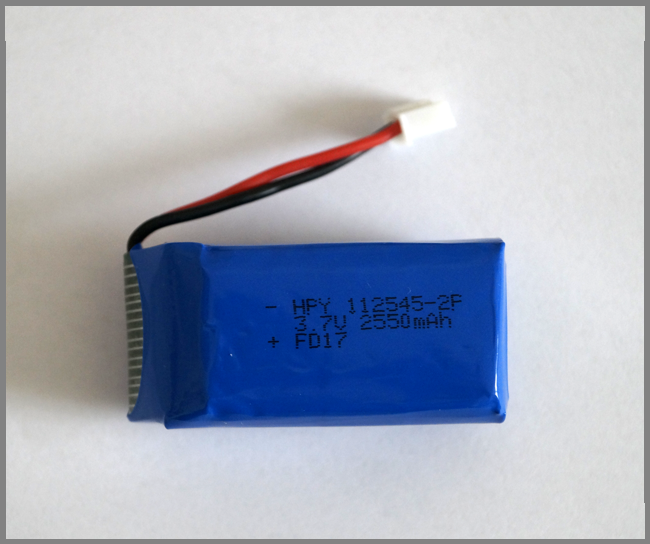 PIco LiPO Battery 2550 mAh 2C (with mounting plastic base)